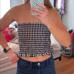Gingham tune top